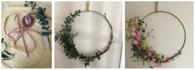How to make fabulous spring hoops and wreaths paprika gifts for Hula hoop decorations